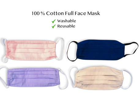 We produce masks for face cover up !