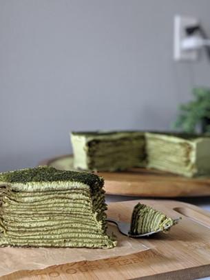 Vegan Matcha Crepe Cake Recipe