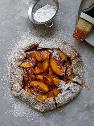 Peach galette (vegan, Gluten free)