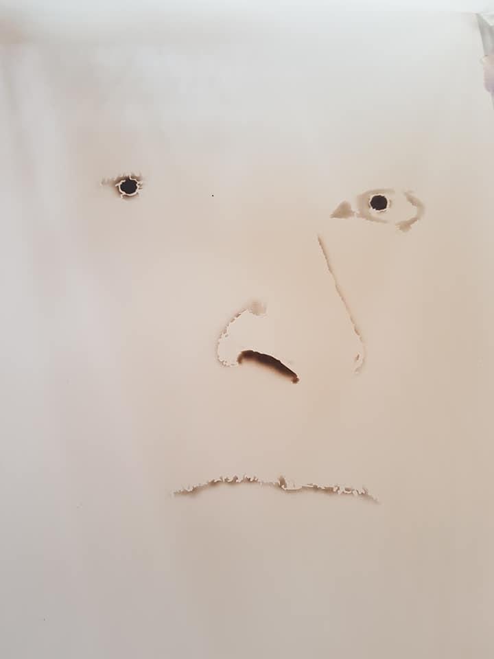 Hugh Jackman airbrush  painting