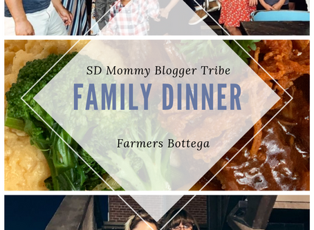 SD Mommy Blogger Tribe's Family Dinner at Farmer's Bottega