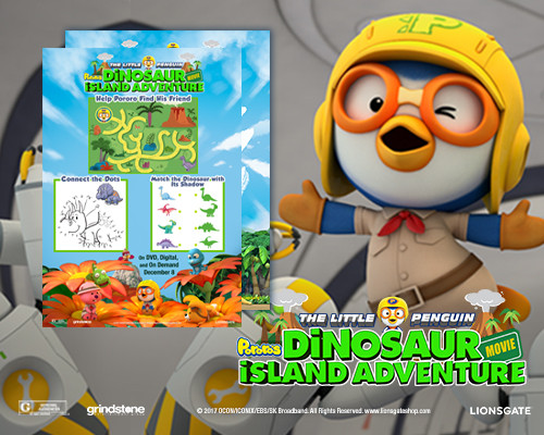 The Little Penguin: Pororo's Dinosaur Island Adventure Activity Sheets