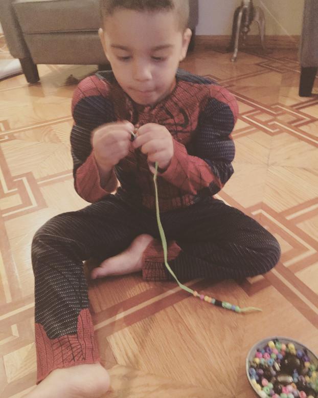 Toddler Fun with Beads
