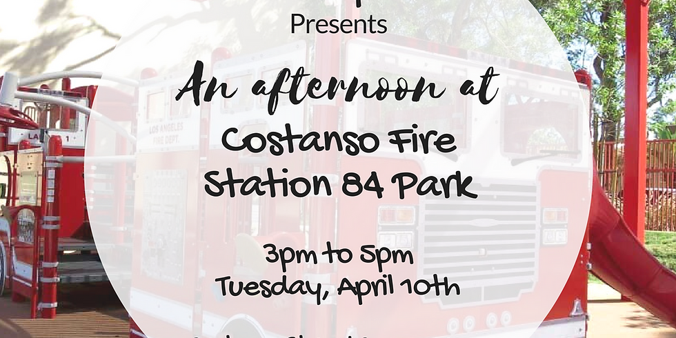 SPS Playdates presents: An Afternoon at Costanso Fire Engine 84 Park