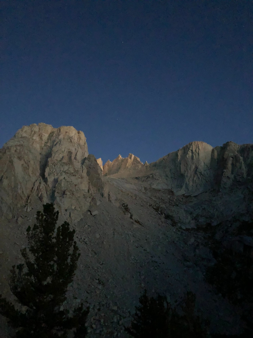Mt. Whitney from Mirror Lake
