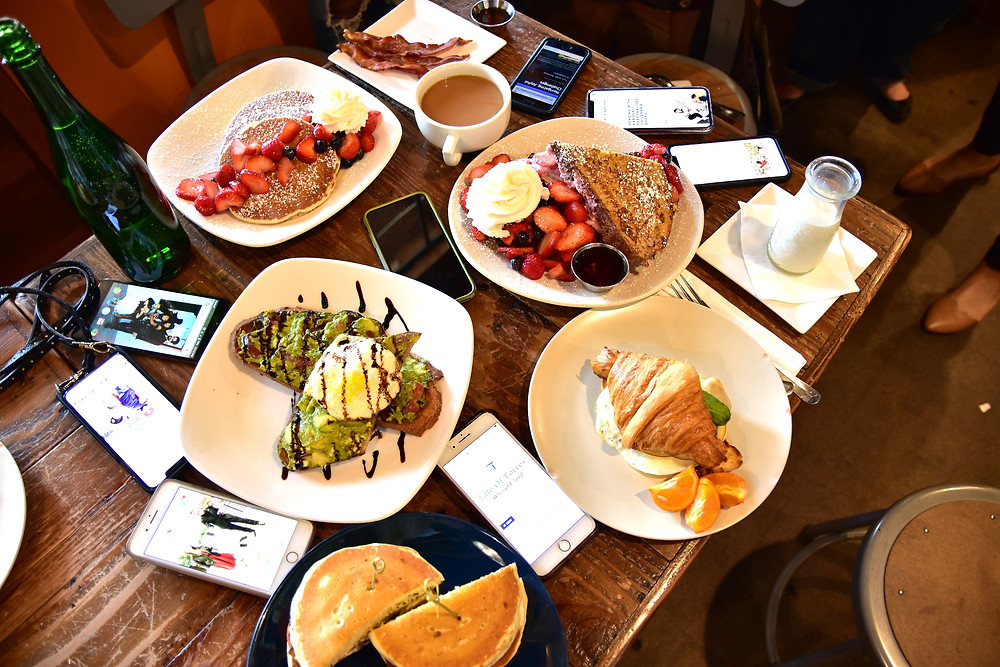 Sort Stack with Fruit| Breakfast Bruschetta | Ojan's Junk | Croissant Sandwich | Stuffed French Toast |  | Joe's Cafe | Granada Hills, CA | LA Mommy Blogger Tribe | Sweet P and Sky