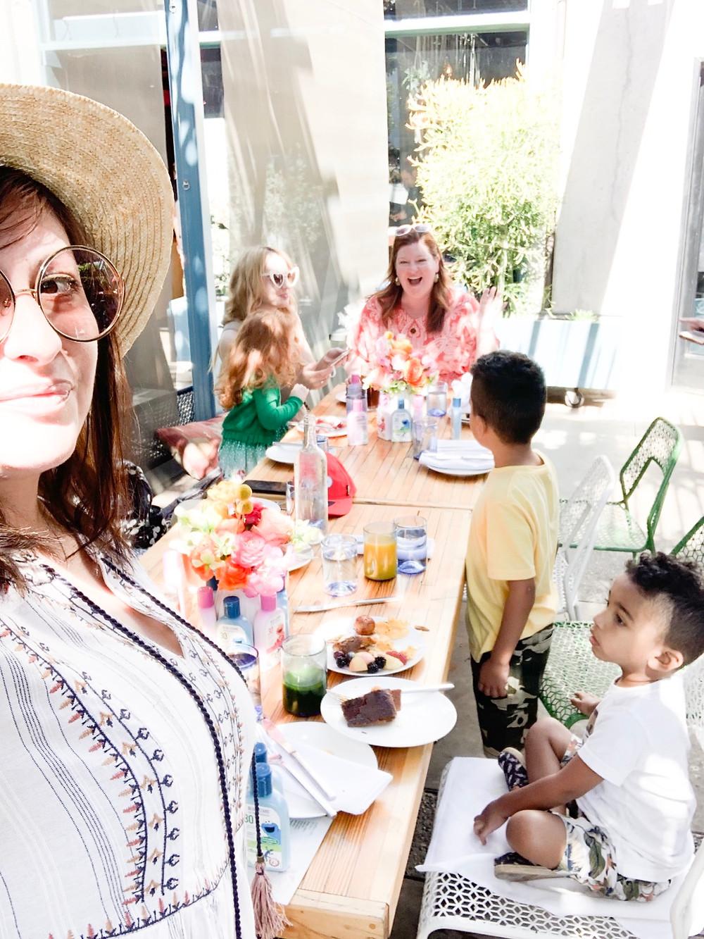 Blue Lizard Sesame Street Brunch at The Rose Venice | Sweet P and Sky | Motherhood in Hollywood | Celeste Write