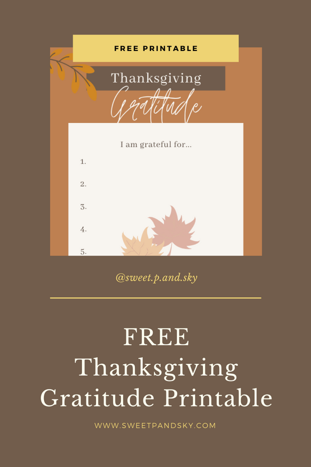 Thanksgiving Gratitude Activity & Printable