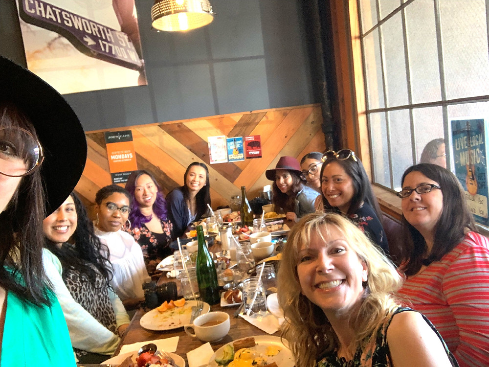 LAMBT Bloggers enjoying Brunch at Joe's Cafe | Granada Hills, CA | Sweet P and Sky