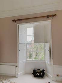 Bespoke curtain pole fitted