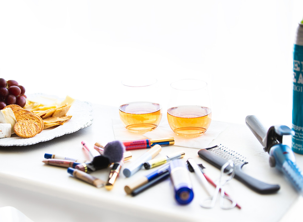At Dani Marie Photography you have the option to add on professional hair and makeup services. You will also be pampered and treated with healthy snacks and beverage.