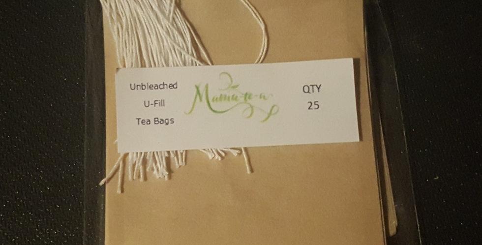 Unbleached U-Fill Tea Bags
