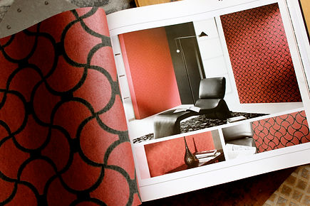 Elegante Tapeten Rot Schwarz