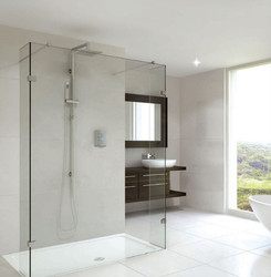 Shower Screen Double Entry With Fixed Return Panels