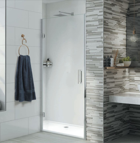 Hinged door options are the perfect addition to any bathroom.  With a choice of handles on offer and a completely frameless wall fixing option, this durable and luxurious design will stand the test of time.