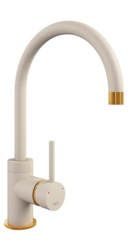 COURBE CURVED SPOUT - GOLD BRASS
