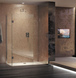 Walk-in corner enclosure is a stylish solution, which boasts clean, contemporary lines for a lifetime of luxury showering.