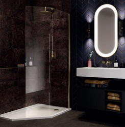 Bring the essence of luxury into your bathroom with this uniquely-designed quintet walk-in like no other.
