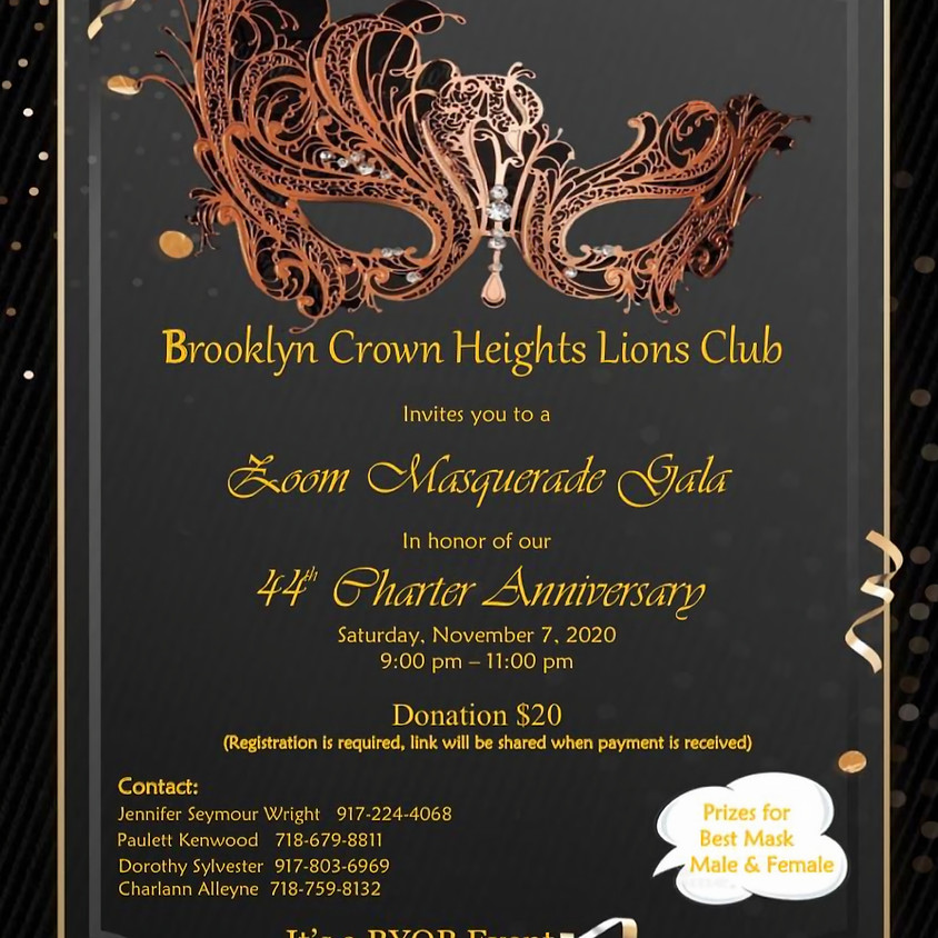 Brooklyn Crown Heights Lions Club | Zoom Masquerade Gala