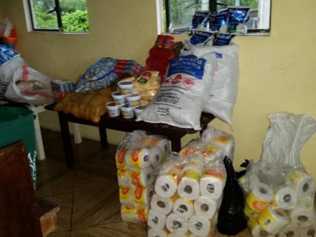 Food Hamper Distribution Project Bagotville SDA Church and GUYDA