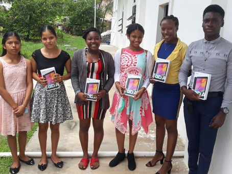 GUYDA Presents Electronic Tablets to Students in Charity, Guyana