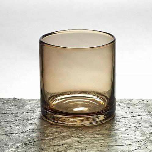 Vase / Teelicht Glas, braun