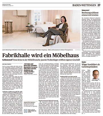 Jasmin & Co. Interiors |  Aargauer Zeitung