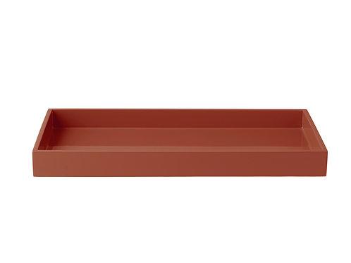 Tablett 19 x 38 cm, Terracotta