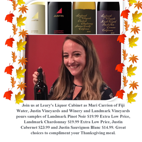 Wine Tasting November 18th 4pm-7pm with Mari Carrion