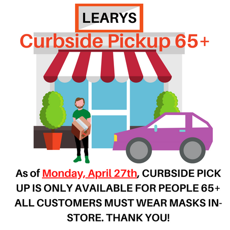 😷Masks Required in-Store and 🚗Curbside for Seniors Only Starting Monday, April 27th