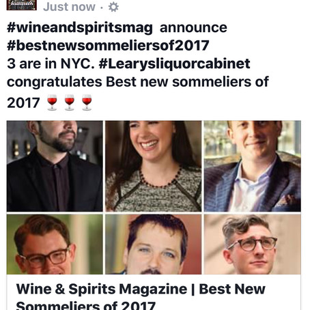 Best Sommeliers of 2017