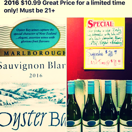 Last Chance Oyster Bay Sauvignon Blanc $10.99