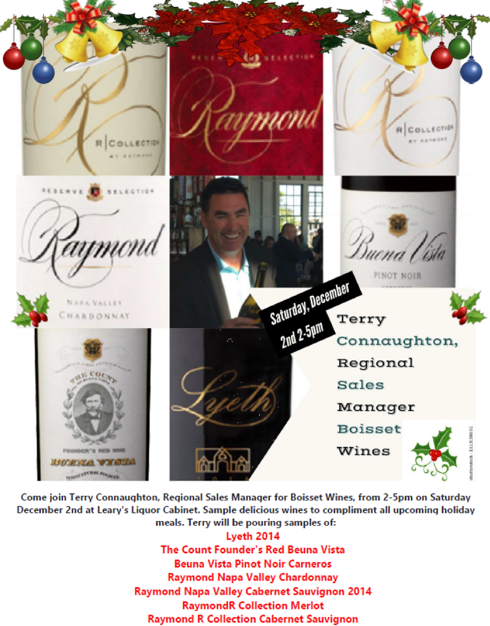Terry Connaughton, Regional Sales Manager Boisset Wines