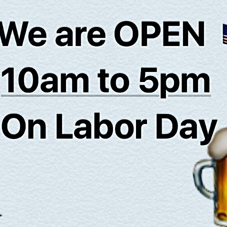 #Learysliquorcabinet is open on Labor Day