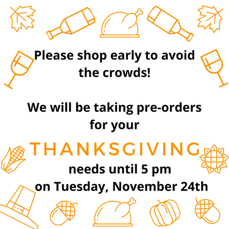 Taking Your Pre-Orders for Thanksgiving