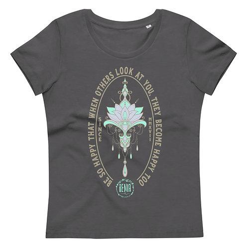 Ženska telirana BIO majica -Be so happy...-