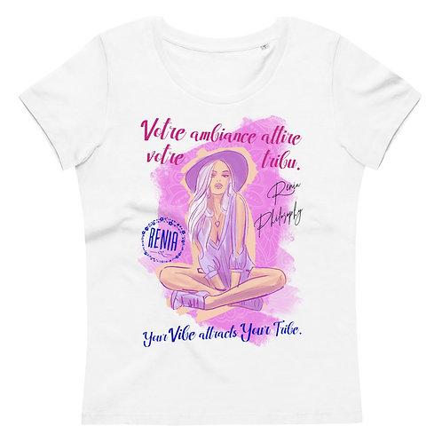 Ženska telirana BIO majica  -Your Vibe attracts your tribe-