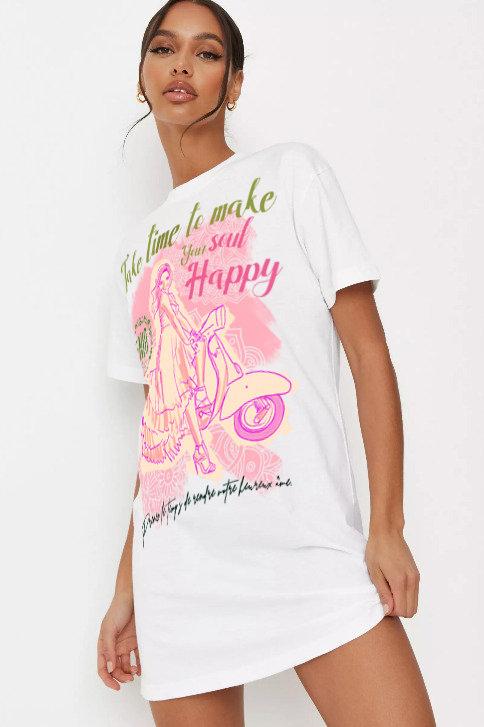 Dolga ženska BIO majica -Take time-