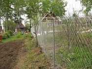 Забор рабица между участками