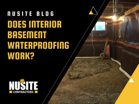 Does Interior Basement Waterproofing Work?