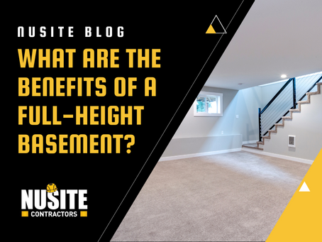 What are the Benefits of a Full-Height Basement?