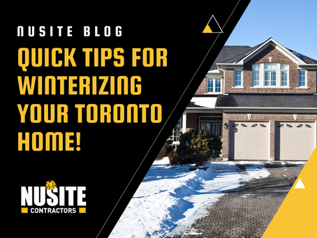 Quick Tips for Winterizing your Toronto Home!