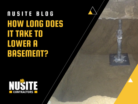 How Long Does It Take to Lower a Basement?