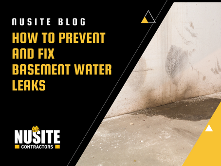How to Prevent and Fix Basement Water Leaks