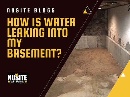 How is Water Leaking into My Basement?