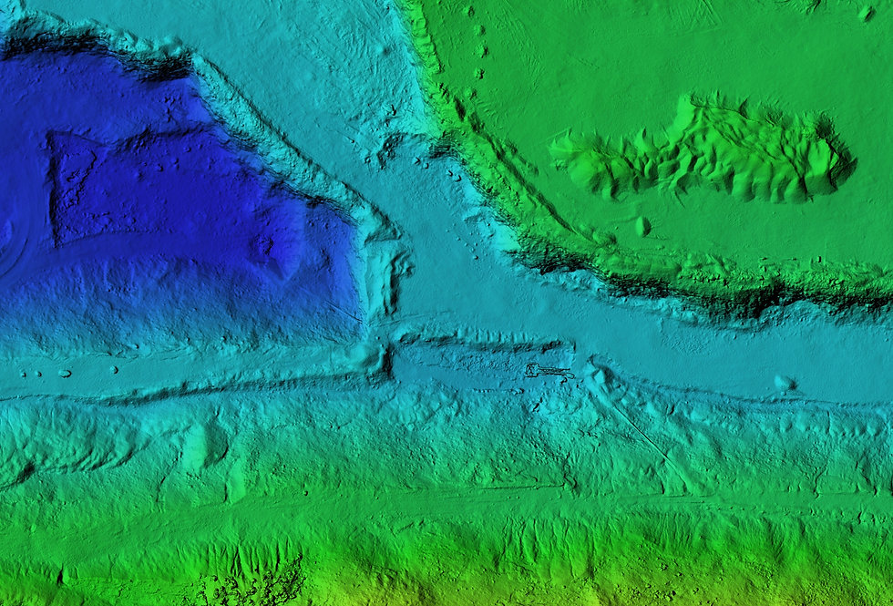 DEM - digital elevation model. Product m
