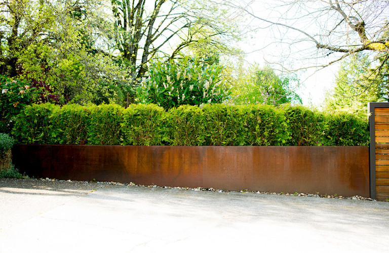 CORTEN PLANTERS PRIVACY HEDGE