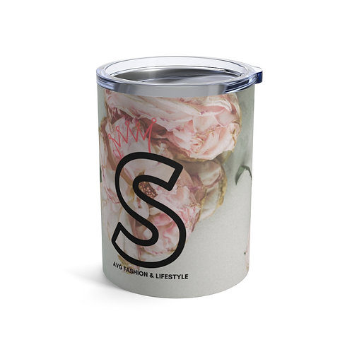 S With Crown Floral Tumbler 10oz