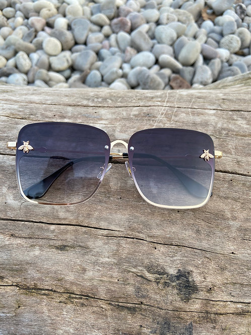 Retro Square Women's Bee Sunglasses