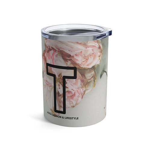 T With Crown Floral Tumbler 10oz